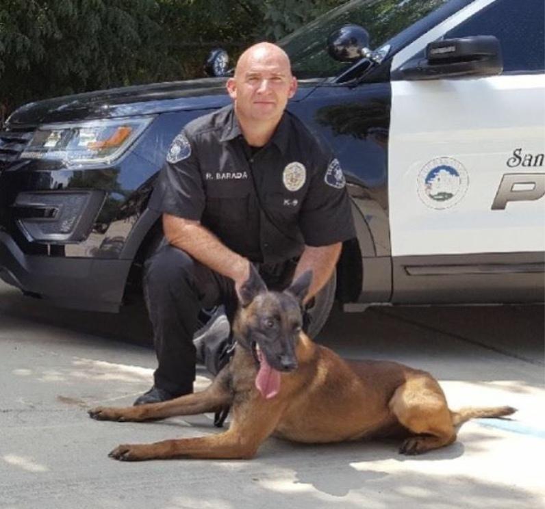 Officer Robert Barada & K-9 Edy